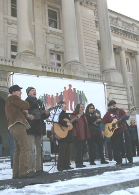 Public Outcry sings at the Capitol